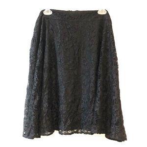 NWT Torrid size 26 black lace skater skirt